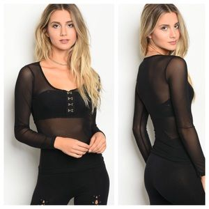 Tops - JUST IN🎊🎉🎊🎉Mesh Long Sleeve Shirt (S/M/L)